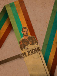 CM Punk Retro Poster by ecolle