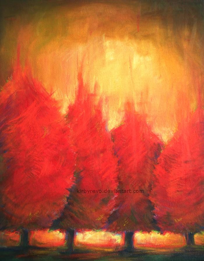 Fire Trees by kirbyrevo