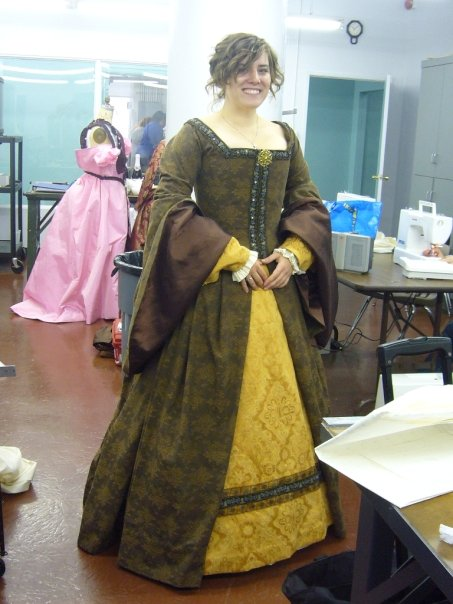 Tudor Dress Front View by tazzasister