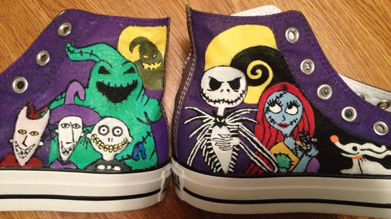 2f0c349e669 Nightmare Before Christmas Hand Painted Converse by candysan87 on ...