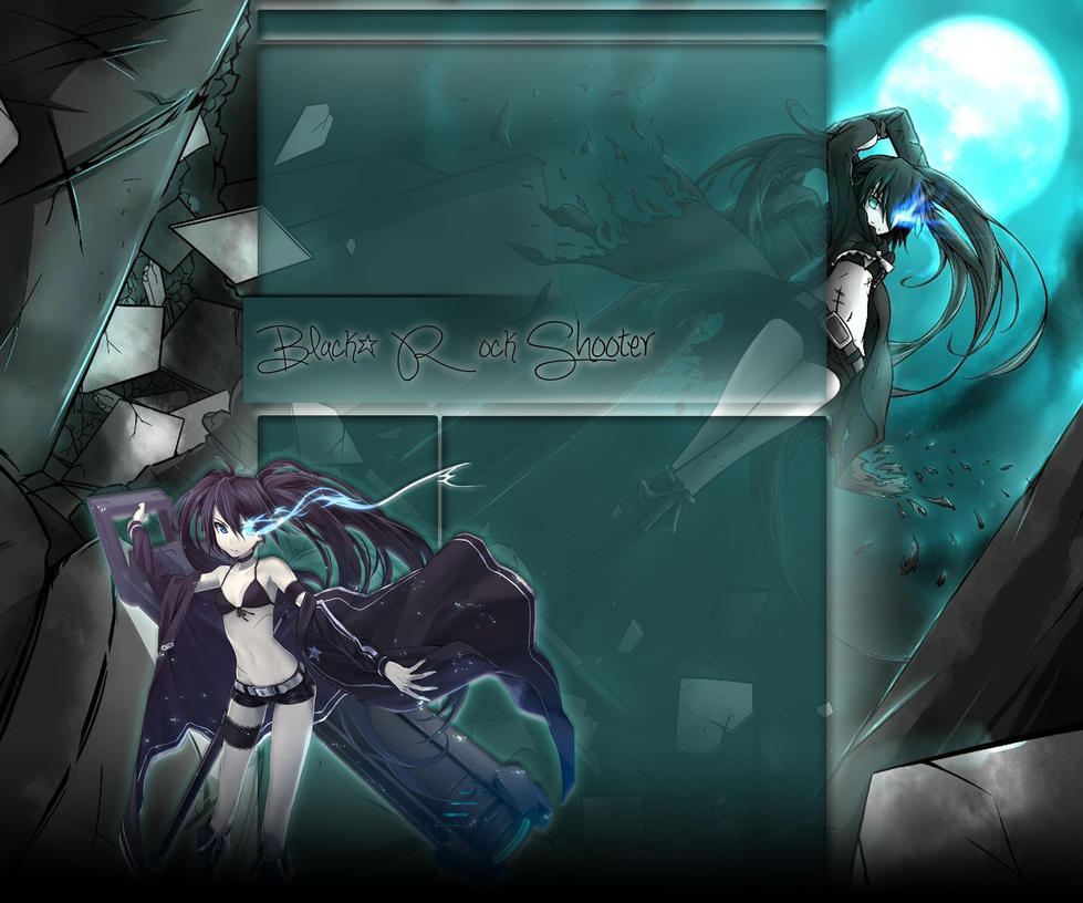 Black Rock Shooter - Youtube background by MidNightMoonXxX