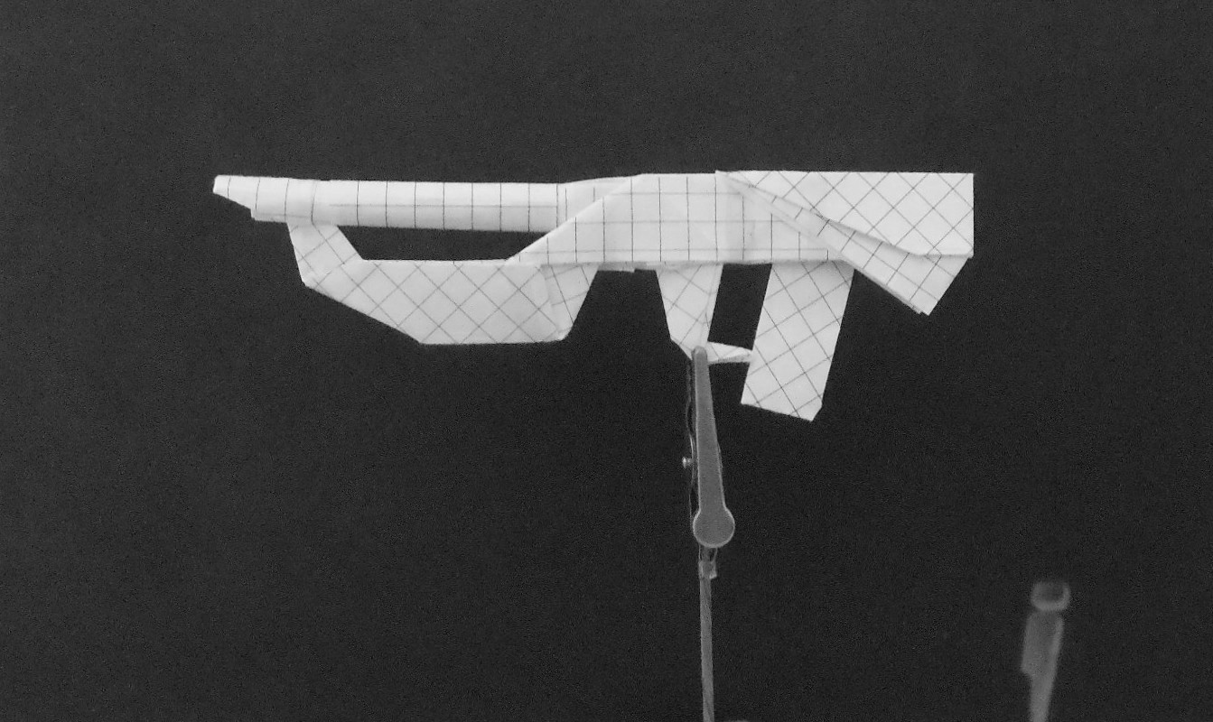 how to make an origami rifle