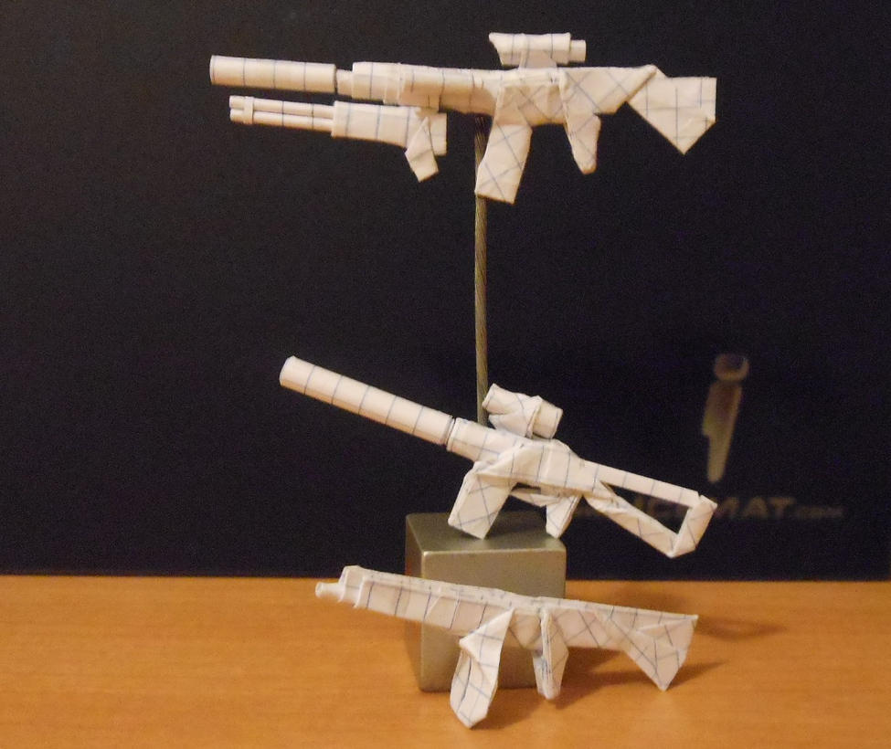 Origami Fire Weapons 1 By Solidmark On Deviantart