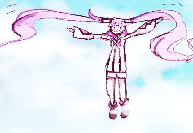 how to draw something flying through the air