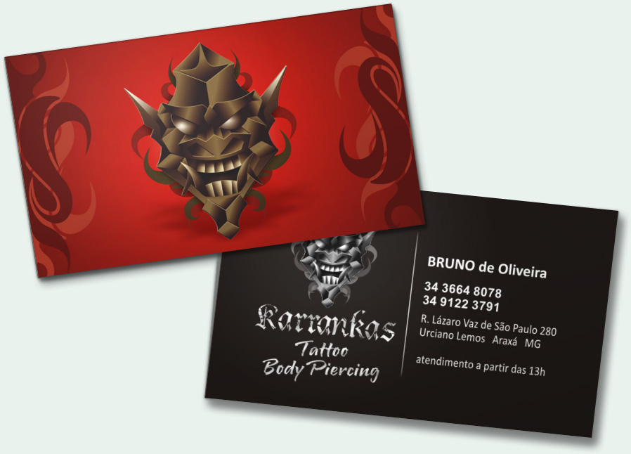 Tattoo business cards templates, love quotes from metallica songs ...