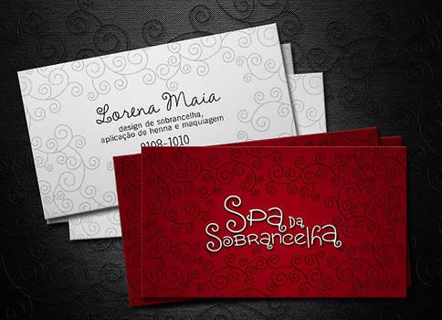 Design de Sobrancelha Business Card