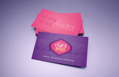 Clara Rosa logo and business card