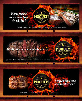 Moquem Steak House - outdoor advertising campaign