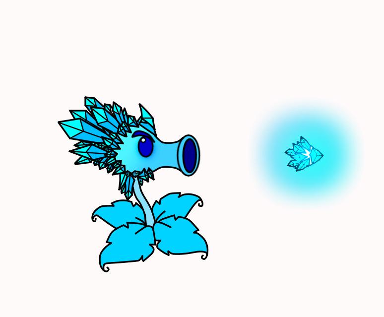 Frostbite Peashooter by BonziGaster