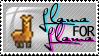 Llama for llama stamp