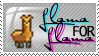 Llama for llama stamp by NeverRegretMe