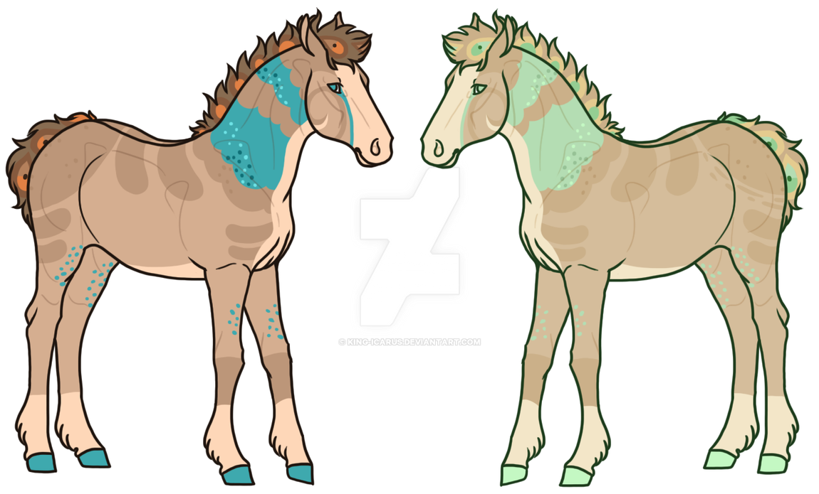 Peafrie Foal Twins by King-Icarus