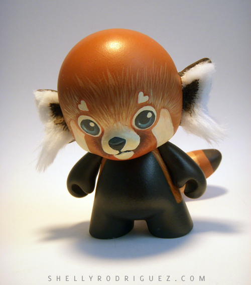 Red Panda Mini Munny Custom by inki-drop