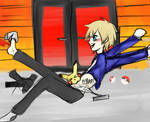 Poketickling: Calem Tickled with Flair~!