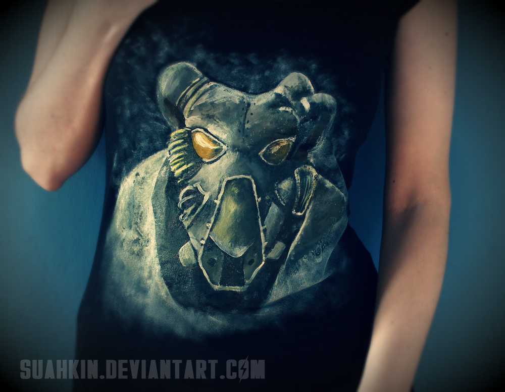 Fallout 2 T-shirt by Suahkin