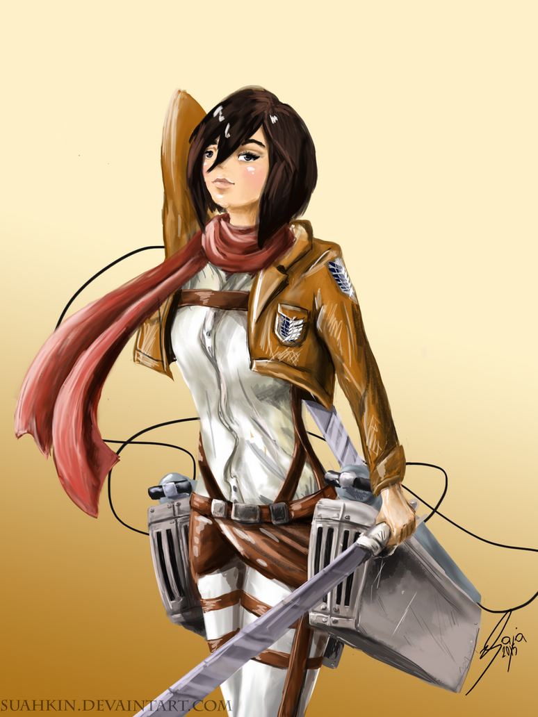 Mikasa Ackerman by Suahkin