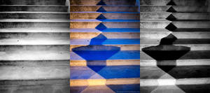 Colors Compete on Stairs by KBeezie