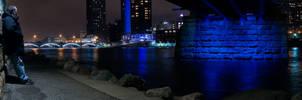 Myself under the Blue Bridge