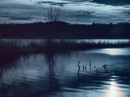 Sun behind Lake Leota by KBeezie