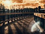 Millennium Bridge at Night (Infrared under Moon)