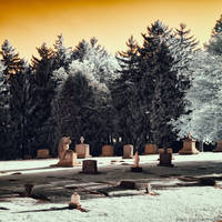Angelic Gravestone (Infrared) by KBeezie