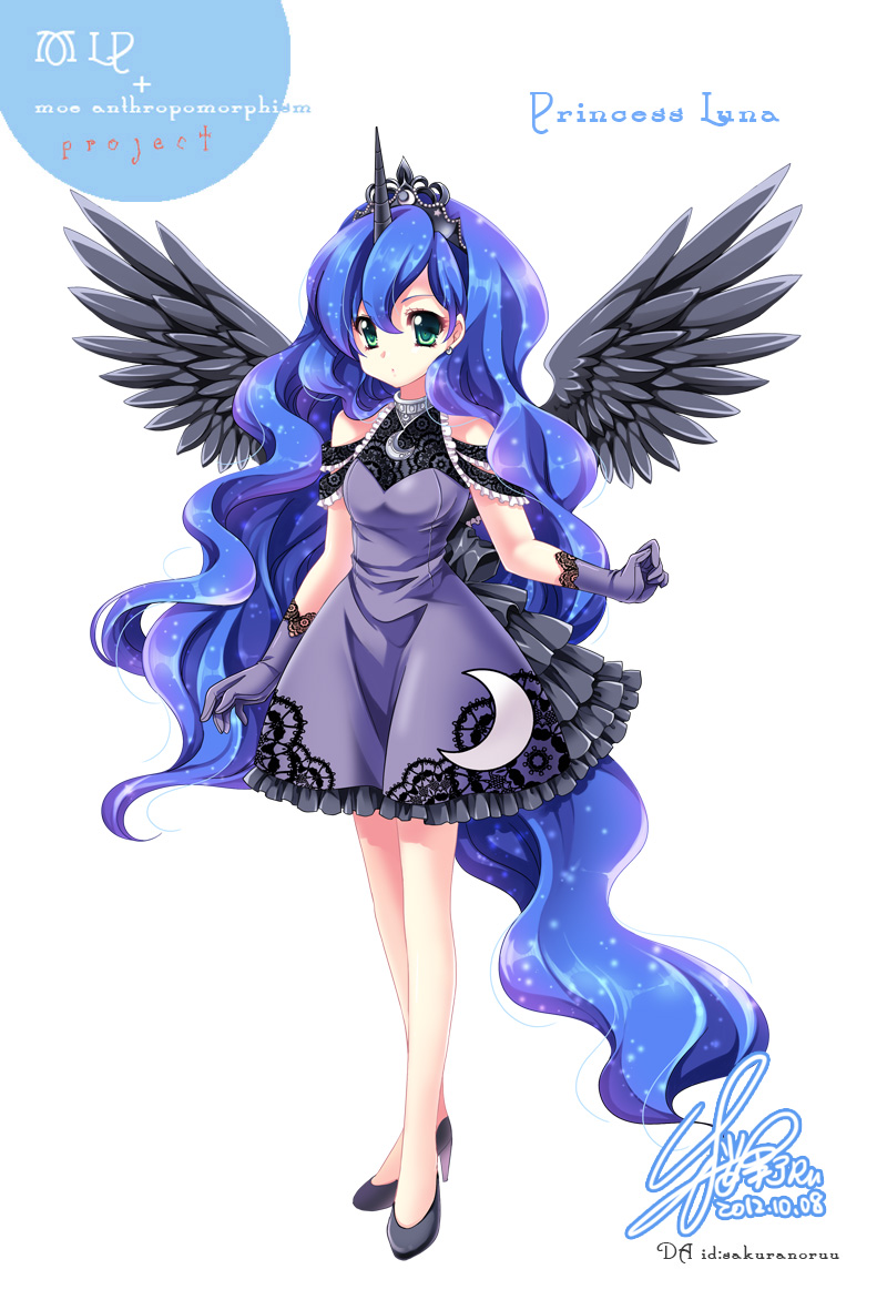 [MLP]LUNA Of Moe Anthropomorphism By SakuranoRuu On DeviantArt