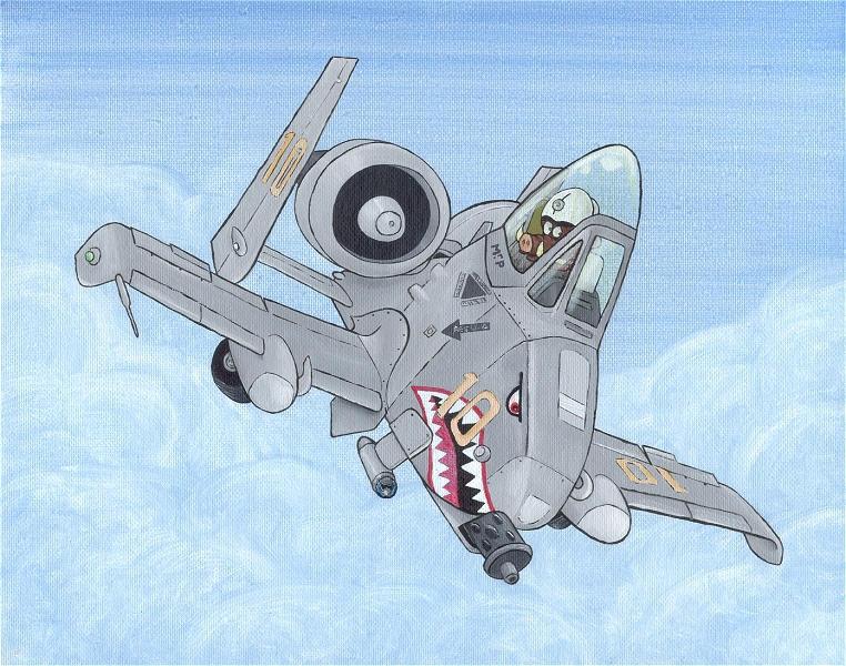 A 10 Thunderbolt Drawing A10 warthog by ...