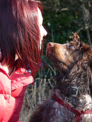 Kisses with the Spaniel