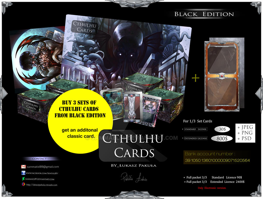 Cthulhu Cards Promotnion pack 3