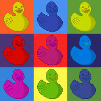 Ducky Pop Art by gopherchuck6