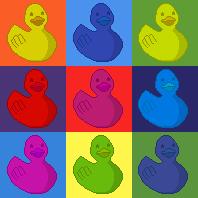 Ducky Pop Art by gopherchuck6