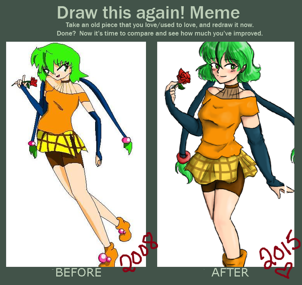 draw this again meme template - before after vicky by echovoice713 on deviantart