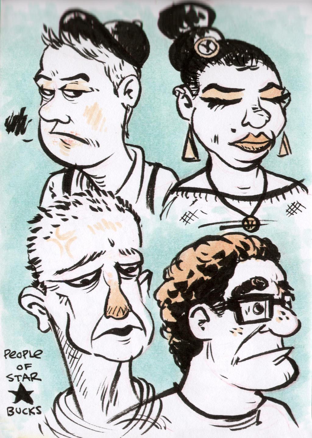 Sketch Starbucks by YourFathersMustache