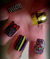 Rocky Horror Nail Art - Columbia by KayleighOC