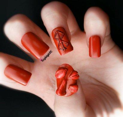 Berserk Nail Art by KayleighOC