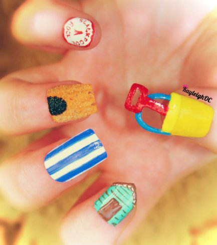 Seaside Nail Art by KayleighOC