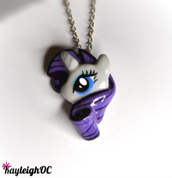 My Little Pony - Rarity Necklace by KayleighOC