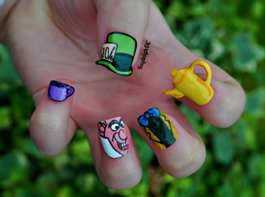 Mad Hatter Nail Art by KayleighOC