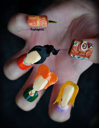 Hocus Pocus Nail Art by KayleighOC