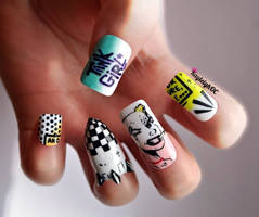 Tank Girl Nail Art by KayleighOC