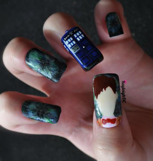 Doctor who nail art the eleventh doctor by kayleighoc on deviantart doctor who nail art the eleventh doctor by kayleighoc prinsesfo Choice Image