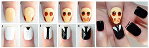 Tutorial: Doctor Who Nail Art - The Cute Silence