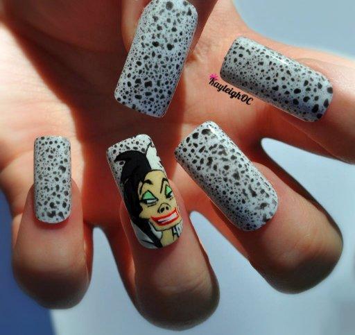 101 Dalmatians - Cruella De Vil Nail Art by KayleighOC