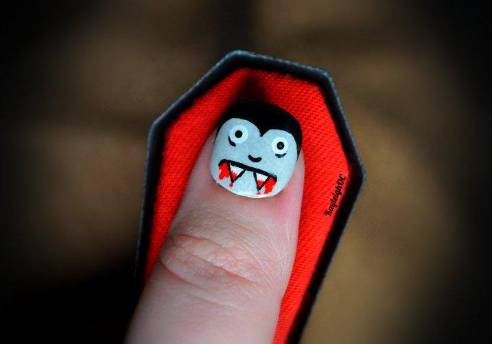 Vampire Nail Art by KayleighOC