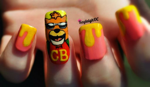 30 Rock Nail Art - Meat Cat by KayleighOC