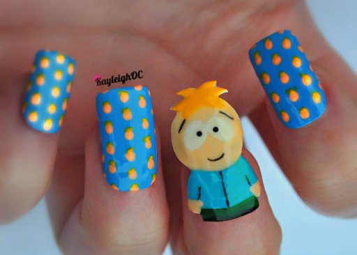 South Park Nail Art - Butters by KayleighOC
