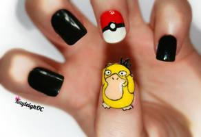 Pokemon Nail Art - Psyduck