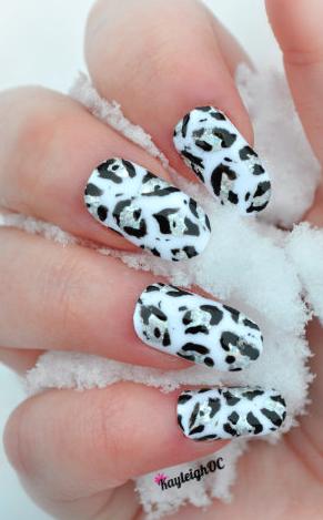 Snow Leopard Nail Art