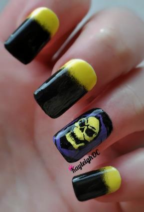 Skeletor Nail Art by KayleighOC
