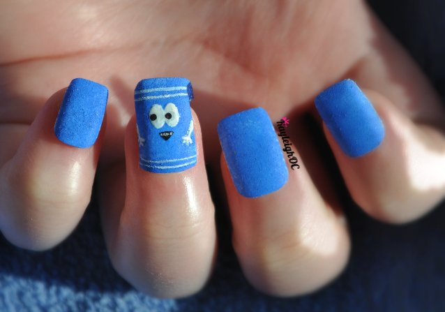 South Park Nail Art - Towelie by KayleighOC
